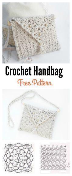 Pretty Crochet Handbag with Graphics and Free Pattern