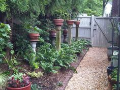 Potted Plants on Posts...   beautiful yard plans - Yahoo! Search Results