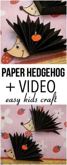 Rainy Day Crafts, Diy Projects For Kids, Fall Crafts For Kids, Diy Crafts For Kids, Kids Diy, Teen Crafts, Hedgehog Craft, Mermaid Crafts, Paper Crafts Origami