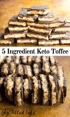 Buttery Walnut Toffee Bark - Layers of chocolate and a nutty, caramel-scented crunchy toffee. Only five ingredients! Sugar-Free, Low Carb, THM S, Keto. Desserts Keto, Keto Friendly Desserts, Dessert Recipes, Holiday Desserts, Keto Holiday, Keto Snacks, Health Desserts, Recipes Dinner, Christmas Recipes