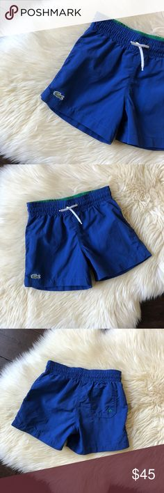 Boys Lacoste Solid Blue Swim Shorts Trunks 4 Boys Lacoste Solid Blue Swim Shorts Trunks   Brand- Lacoste Size - 4 Color - Blue  Excellent Condition! Super cute!! By far my favorite pair of swim shorts!! Lacoste Swim Swim Trunks