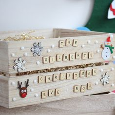 20 Great Christmas Eve Box Ideas for Holiday You are in the right place about kids christmas countdo Christmas Eve Box For Kids, Wooden Christmas Eve Box, Xmas Eve Boxes, Christmas Gift Baskets, Holidays With Kids, Diy Christmas Gifts, Christmas Fun, Christmas Boxes, Christmas Hacks