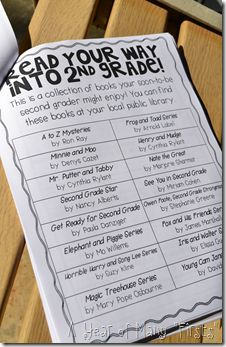 Summer Book List ideas. This would be good to have on virtual classroom for anyone interested. Could be adapted for going into third grade.