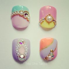 How to get rid of your old Caviar Beads. Japanese Kawaii nail Art, tres she talons