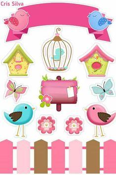 Home Decor Minimalist Parabns Moldes Para Baby Shower, Diy And Crafts, Paper Crafts, Black Widow Marvel, Baby Clip Art, Bird Theme, Ideas Para Fiestas, Little Birds, Planner Stickers