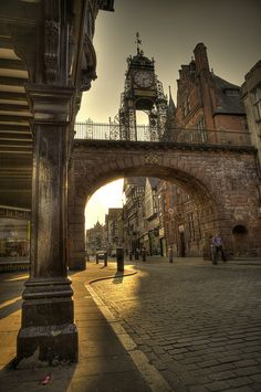 Eastgate Street, Chester, UK on a September Evening by Mark Carline. Arrow FS is based in the historical city of Chester. The Places Youll Go, Places To See, England And Scotland, Lake District, British Isles, Great Britain, Wonders Of The World, Places To Travel, United Kingdom