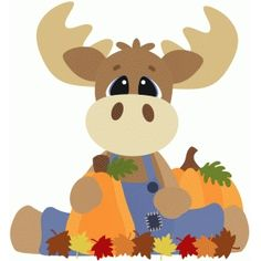 Silhouette Design Store: fall moose sitting w leaves Moose Clipart, Cute Clipart, Silhouette Cameo Projects, Silhouette Design, Animal Cutouts, Fall Clip Art, Christmas Moose, Scroll Saw Patterns, Fall Crafts
