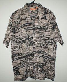 Tori Richard orange label wave Hawaiian button short sleeve shirt mens size 2XL #ToriRichard #ButtonFront