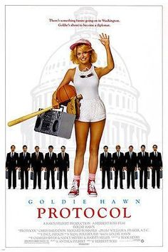 comedy PROTOCOL movie poster GOLDIE HAWN sports WASHINGTON suits CUTE 24X36 Brand New. 24x36 inches. Will ship in a tube. Reproduction of aged original vintage art print. Great wall decor art print at
