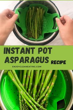 Easy Clean Eating Recipes, Healthy Eating, Healthy Recipes, Potted Meat Recipe, Instant Pot Steam, Easy Asparagus Recipes, Steamed Asparagus, Pressure Cooking Recipes, Air Fryer Healthy