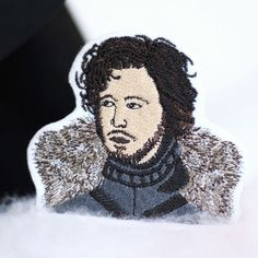 Jon Snow Patch, Iron On, Embroidered Patch by mimosch. mimosch patches are a fun and simple way to personalise your t-shirts, jackets, hats, jeans, canvas bags, & canvas sneakers and much more! All patches are designed by myself and handcrafted with great care. They feature an iron-on