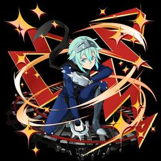 Sinon Ggo, Kirito, Sword Art Online, Online Art, Asada Shino, Naruto Gif, Alien Concept Art, Magical Girl, Fantasy Creatures