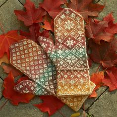 Ravelry: Project Gallery for Autumn Snow Mittens pattern by Janet Welsh Knits