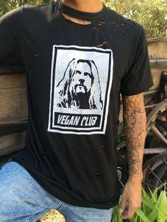 """Unisex T-shirt """"Vegan Club"""" featuring Rob Zombie Rob Zombie, Vegan Fashion, Organic Cotton, Unisex, Mens Tops, T Shirt, Club, Supreme T Shirt, Tee Shirt"""