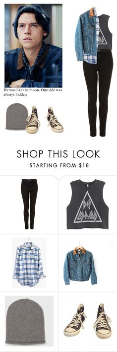 """""""Jughead Jones - Riverdale"""" by shadyannon ❤ liked on Polyvore featuring Topshop, H&M, Madewell, Carhartt and Converse"""