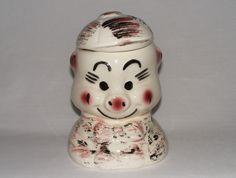 RARE Vintage 1950's CERAMIC Cookie Jar PORKY PIG #AmericanBisique