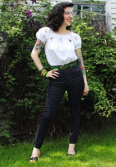 Rock n' roll Ginger jeans, pattern by Closet Case Files | By Gum, By Golly