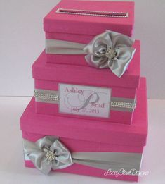 Wedding Card Box Bling Money Holder Custom by LaceyClaireDesigns, $139.00