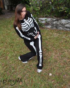 Pregnant Skeleton Halloween Costume