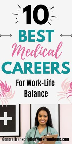 10 Best Medical Careers for Work Life Balance. Learn about in-demand healthcare careers. #medicalcareers #healthcarejobs #healthcarecareers #medicalbilling #medicaltranscription #medicalassistant #EHR Healthcare Careers, Medical Careers, Medical Coder, Medical Billing And Coding, Pharmacy Assistant, Dental Assistant, Transcription Jobs From Home, Medical Administrative Assistant, Coding Jobs