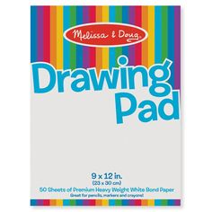 Melissa /& Doug Drawing Paper Pad Sturdy Coloring Paper for Kids, Pages Tear Cle