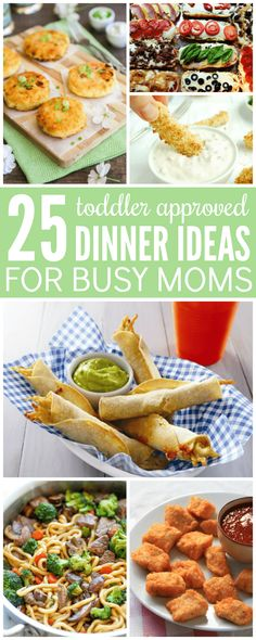 You will LOVE these 25 Toddler Approved Dinner Ideas for Busy Moms, they are perfect for little ones!