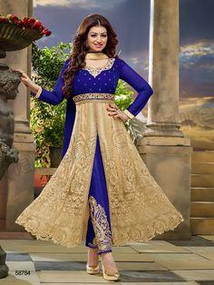#Designer Salwar Kameez#Blue & Cream#Indian Wear#Desi Fashion#Natasha Couture#Indian Ethnic Wear#Indian Suit#Ayesha Takia