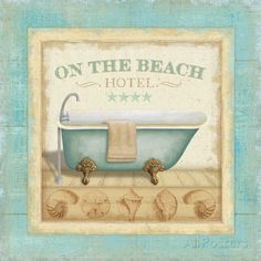 Beach Hotel I Poster by Lisa Audit at AllPosters.com