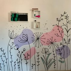 Study Room Decor, Wall Drawing, Wall Decor, Wall Art, Mural Painting, Paint Designs, House Colors, Lettering, Interior Design