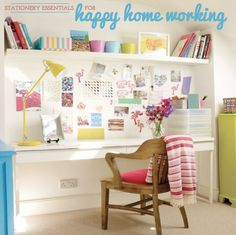 Stationery Essentials: Happy Home Working: Girls Office space
