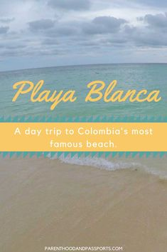 A guide to the best beach to visit on a day trip from Cartagena, Colombia. How to visit Colombia's most famous beach, Playa Blanca on Baru Island in the Rosario Islands. Plus, tips for visiting the popular public beach in South America. Trip To Colombia, Visit Colombia, Colombia Travel, South America Destinations, South America Travel, Travel Destinations, Best Beaches To Visit, Famous Beaches, Machu Picchu
