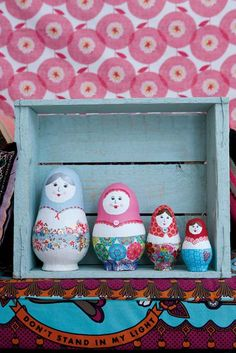 Make your own papier mache matryoshka dolls!  At Good Ideas For You.