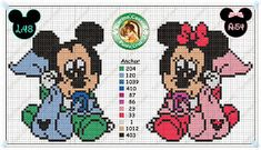 Mickey Mouse a kamarádi on Pinterest | Baby Mickey, Punto Croce and ...
