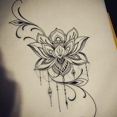 Lotus tattoo design.