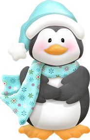 """Photo from album """"Polar Pals"""" on Yandex. Christmas Rock, Christmas Projects, Christmas Time, Merry Christmas, Christmas Graphics, Christmas Clipart, Christmas Pictures, Penguin Clipart, Penguin Art"""