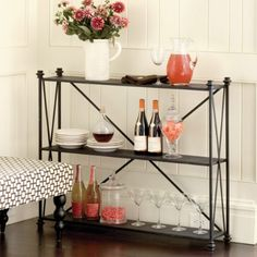 outdoor console table.