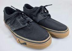 Puma Sneakers 7.5 Mens Black Canvas & Suede Black Oxfords Gym Shoes #Puma #FashionSneakers