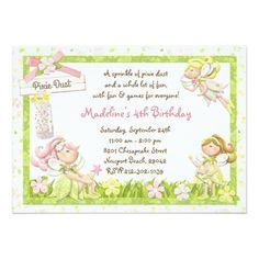 Fairy Birthday Party Pixie Fairy Birthday Party Invitation