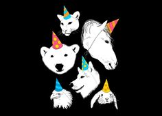 """Party Animals"" - Threadless.com - Best t-shirts in the world"