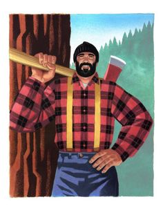 ever since Paul Bunyon, I've always loved lumberjacks.  The character originated in folktales circulated among lumberjacks in the Northeastern United States and eastern Canada, first appearing in print in a story published by Northern Michigan journalist James MacGillivray in 1906. However, the stories found widespread popularity after they were reworked by William Laughead for a logging company's advertising campaign beginning in 1914. The 1922 edition of Laughead's tales inspired many…