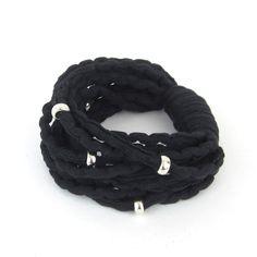 Räsyrannekoru, Rock, Musta - INTOA design Helmet, Rock, Bracelets, Accessories, Jewelry, Design, Jewlery, Hockey Helmet, Jewerly