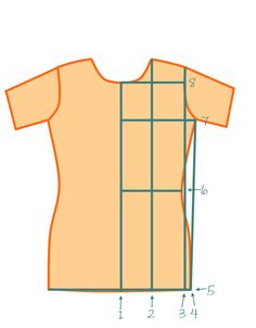 Measuring2 400x512 My basic fitted T shirt Pattern