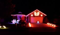 An amazing Halloween light display. David in Northwest Wichita for the Lights on David Street Halloween show! Halloween Light Show, Thunder And Lightning, Monster Mash, Ghostbusters, Kicks, Track, Display, Lights, Street