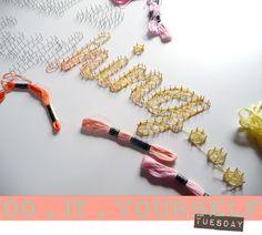 b e a n i p e t: DIY Tuesday - Threading & Nails