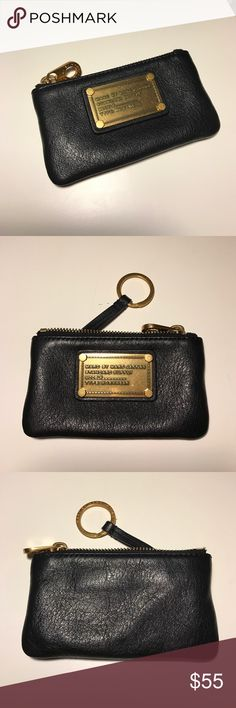 Marc Jacobs Key Pouch Black leather key pouch, with gold key ring, zipper, and Marc Jacobs name plate. In excellent shape! Marc by Marc Jacobs Bags Wallets