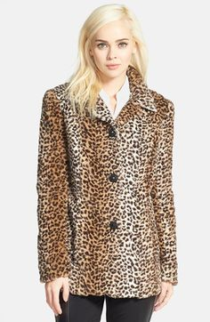 Sam Edelman Leopard Print Faux Fur Coat available at #Nordstrom