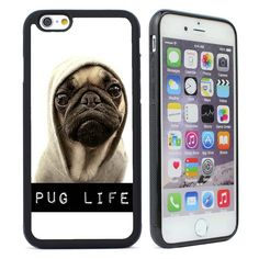 Funny Pug Life Rubber Silicone Case For iPhone 4s 5 5s SE 5C 6 6S Plus iPhone 7…