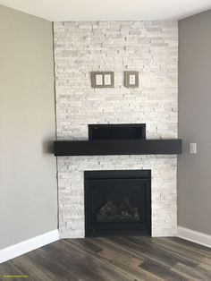 Modern Stone Fireplace, Stone Electric Fireplace, Modern Fireplace Mantels, Stone Veneer Fireplace, Corner Electric Fireplace, Stone Fireplace Designs, Corner Gas Fireplace, Stone Fireplace Surround, Stacked Stone Fireplaces
