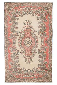 ecarpetgallery Anatolian Vintage Rug in Cream and Olive