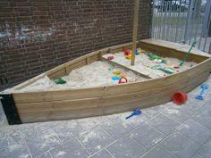 mooie boot zandbak